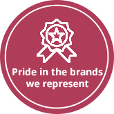 Pride inthe brands we represent